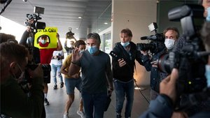 Jorge Messi, en su llegada a Barcelona