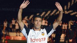 El Kily fue uno de los ídolos del Valencia en las 4 temporadas que jugó en Mestalla