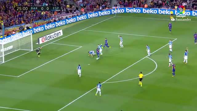 LALIGA | Barça-Espanyol (5-0): El golazo de Messi que puso el 1-0