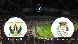 El Leganés B y el San Fernando de Henares solo sumaron un punto (1-1)