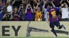 Leo Messi celebrando su tanto de falta al Alavés
