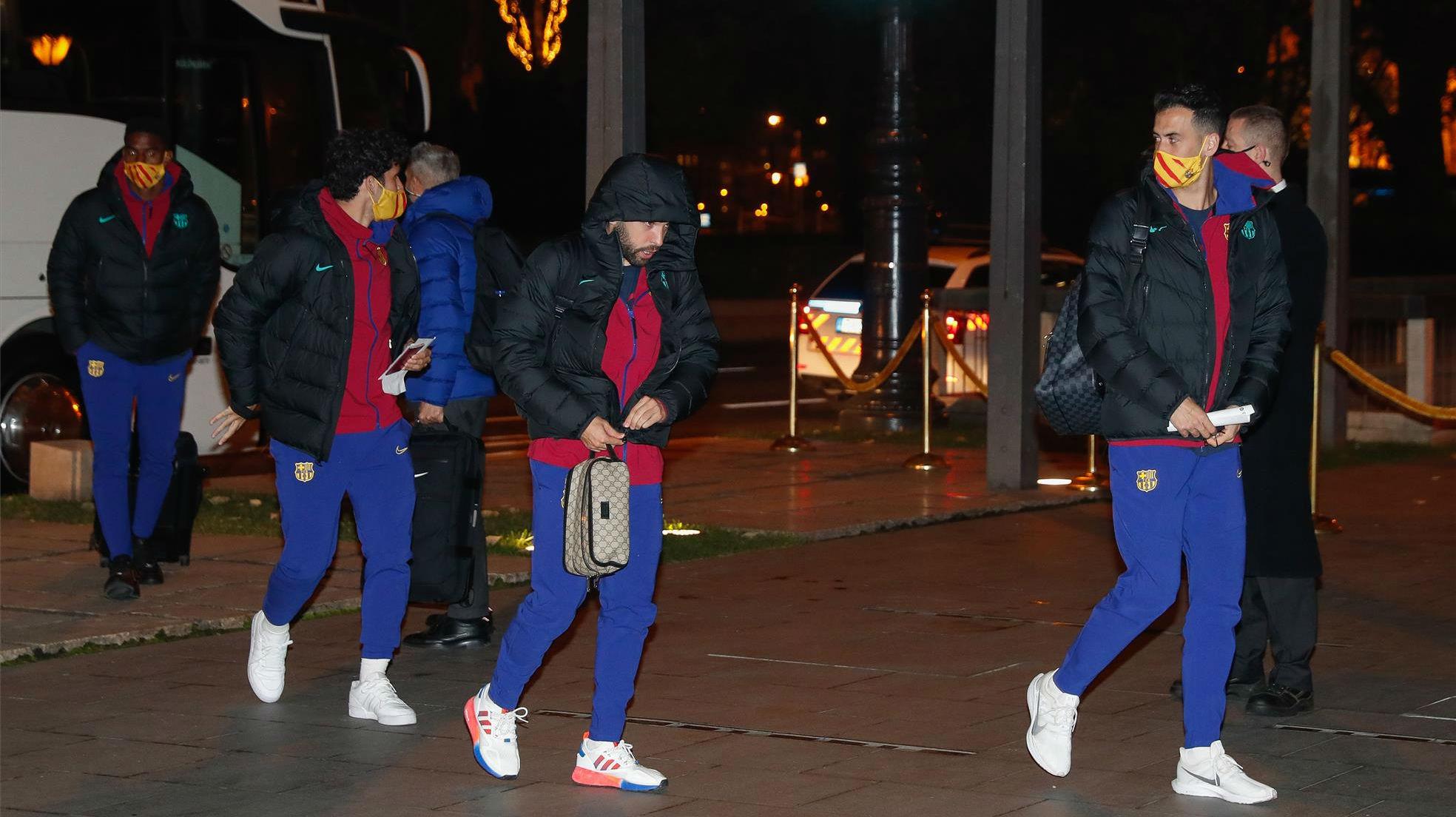 La llegada del Barça a Budapest