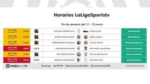 Los horarios de LaLiga TV