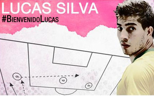 El Madrid hizo público el fichaje de Lucas Silva