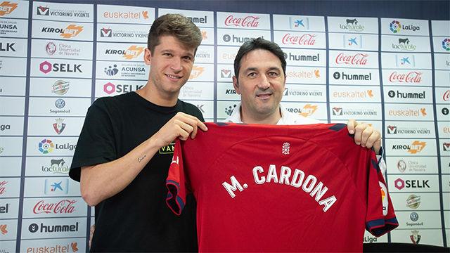 Marc Cardona, presentado como nuevo jugador de Osasuna: No va a faltar trabajo y sacrificio