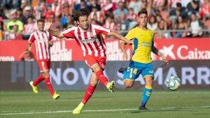 Marc Gual, en un encuentro contra Las Palmas