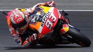 Márquez, en acción en Jerez