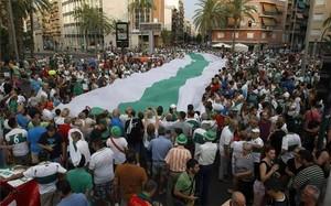 Más de 10.000 personas dieron su apoyo al Elche en la manifestación