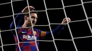 Messi marcó de penalti a la Real Sociedad