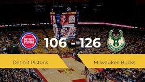 Milwaukee Bucks se lleva la victoria frente a Detroit Pistons por 106-126