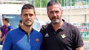 Òscar López, con Fran Artiga