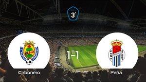 La Peña Sport logra un empate a uno frente al Cirbonero