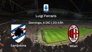 Previa del partido: el AC Milan defiende su liderato ante la Sampdoria