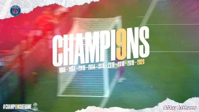 El PSG celebra su título de liga