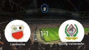 El Racing Valverdeño consigue un empate a uno frente al Llerenense