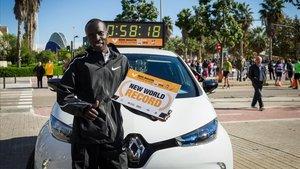 Récord del Mundo de media maratón Abraham Kiptum (58:18)