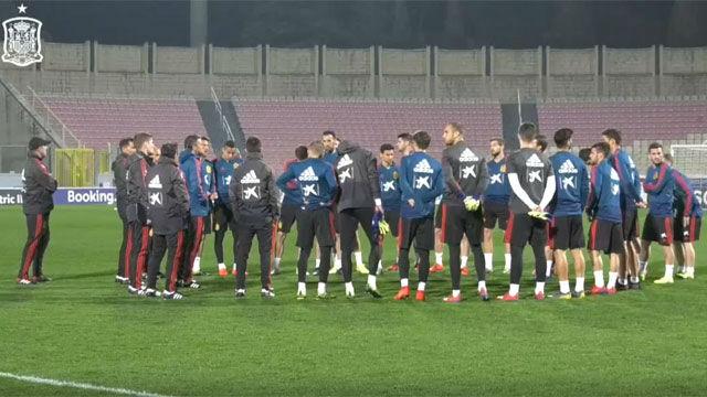 La selección ultimó el partido ante Malta