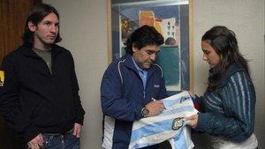 SPORT fue testigo del encuentro entre Diego Armando Maradona y Lionel Messi