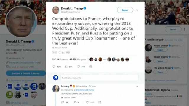 Trump felicita a Francia por la victoria