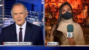 Una reportera de Informativos Telecinco se pone nerviosa en directo: ¡no, no, no!