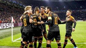 El Valencia estará en octavos de final tras siete años de ausencia.