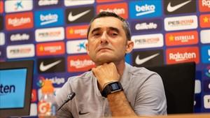 Valverde durante la rueda de prensa previa al partido frente al Leganés