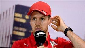 Vettel compareció antes del GP de Australia.