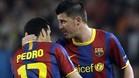 Villa por Pedro. La última vez que el FC Barcelona solo hizo efectivo uno de los tres cambios permitidos
