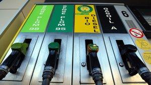 Surtidores de gasolina.