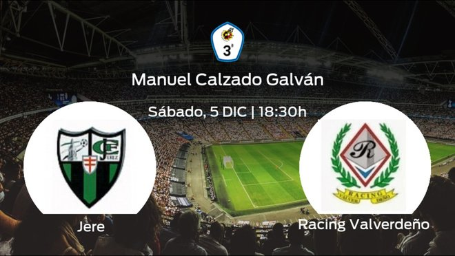 Previa del encuentro de la jornada 8: Jerez contra Racing Valverdeño