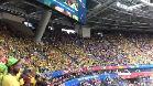 Así vibró la afición brasileña con el himno