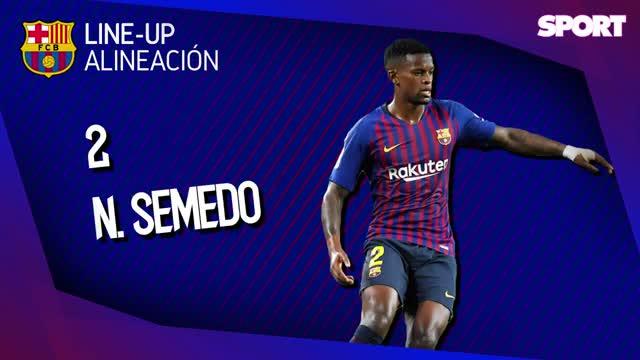 El Barça presenta un 11 inédito ante el Levante