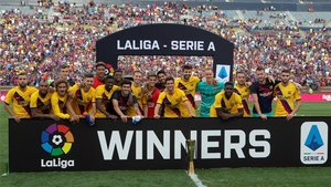 El Barça puso el colofón a la pretemporada con La Liga-Serie A Cup