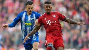 Boateng, durante el duelo del pasado agosto ante el Hertha