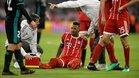 Boateng no estará presente en la zaga que defenderá al Bayern en Anfield