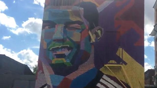 Cristiano Ronaldo ya tiene su mural en Kazán