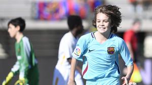 Cristobal celebra uno de los goles ante la Roma