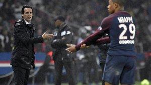 Emery coincidió con Mbappé en el PSG