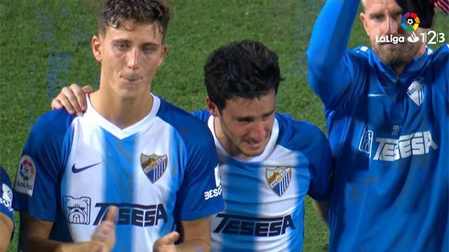 La emotiva despedida del Málaga ante su afición tras caer eliminados