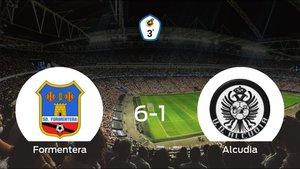 El Formentera se queda con los tres puntos ante el Alcudia (6-1)