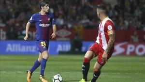 El Girona - FC Barcelona en Montilivi acabó 0-3
