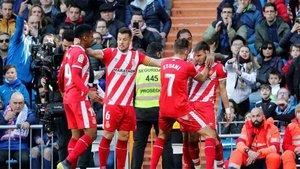 El Girona obtuvo un importante triunfo en Madrid