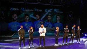 Griezmann participó en un acto publicitario de Puma