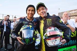 Hamilton y Rossi, en Cheste