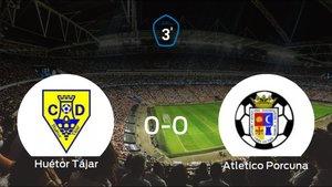 El Huétor Tájar y el Atletico Porcuna se reparten los puntos tras empatar a cero