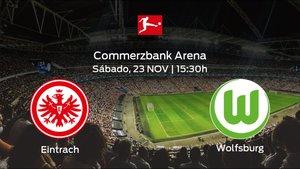 Jornada 12 de la Bundesliga: previa del duelo Eintracht Frankfurt - VfL Wolfsburg