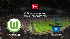 Jornada 3 de la Bundesliga: previa del duelo Wolfsburg - Paderborn