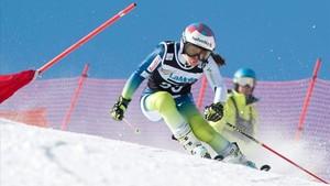 Júlia Bargalló compitiendo