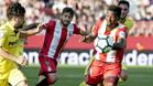 Kayode disputa el balón en uno de sus partidos con el Girona