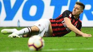 Krzysztof Piatek está pasando un mal momento en el Milan